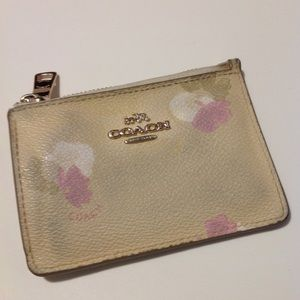 Coach Mini Skinny ID Case with Floral Print